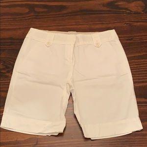 Ann Taylor Loft White Bermuda Shorts